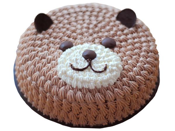 เค้กนมสดช็อคโกแลตหน้าหมี